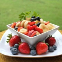Red White and Blueberry Fruit Salad
