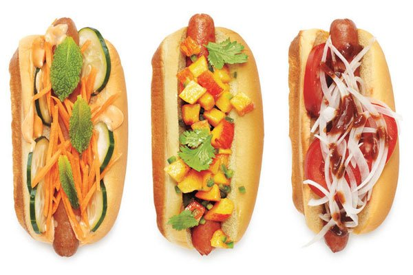 creative hot dog toppings'
